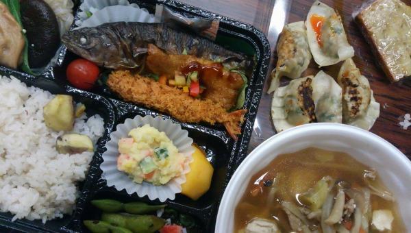 【午後】豪華な地産地消弁当の昼食